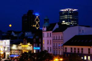 Sankt Pauli bei Nacht