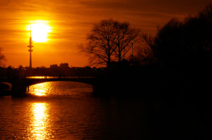 Sonnenuntergang - Hamburg