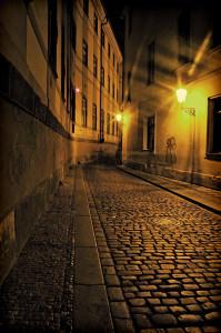 In den Straßen von Prag