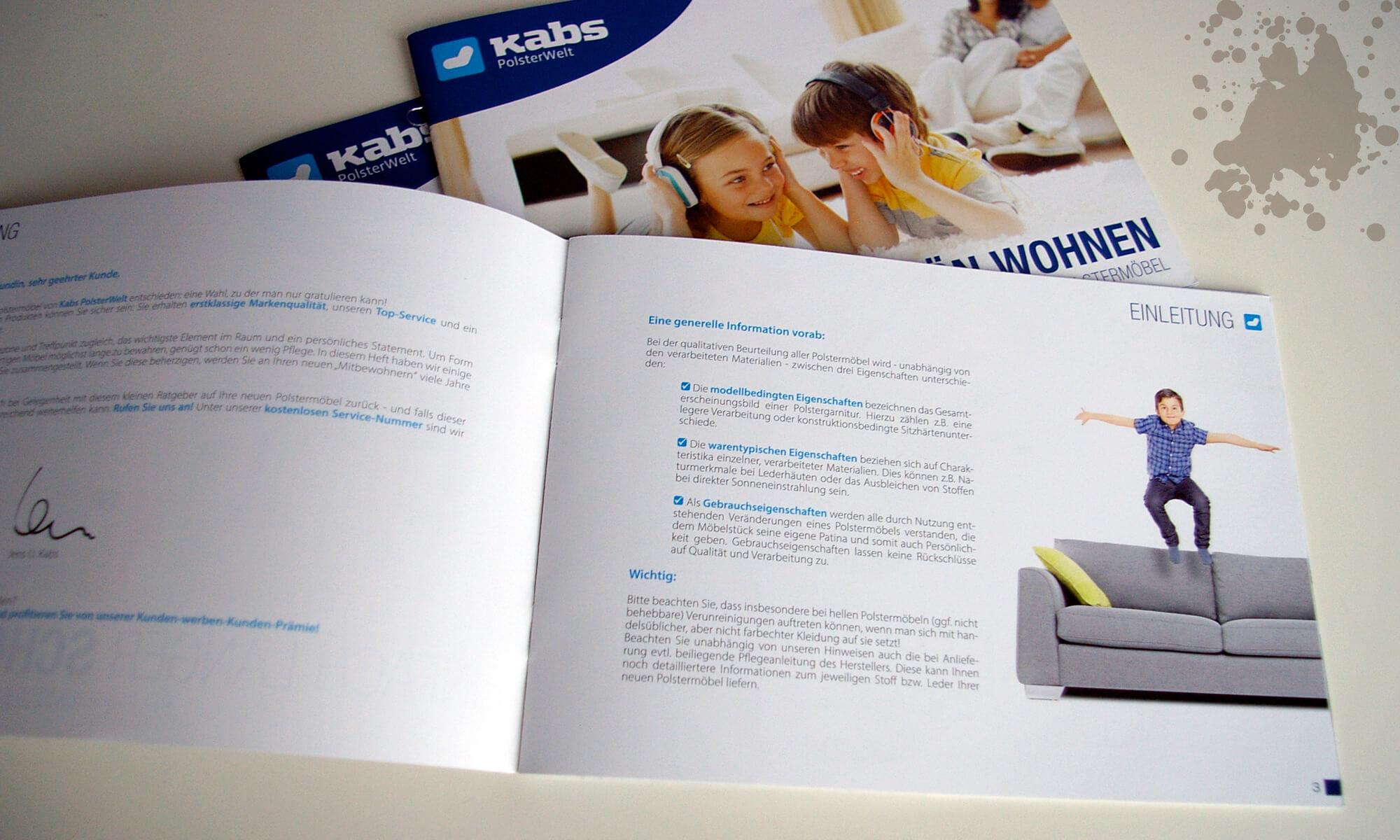 Kabs Polsterwelt - Pflegeheft