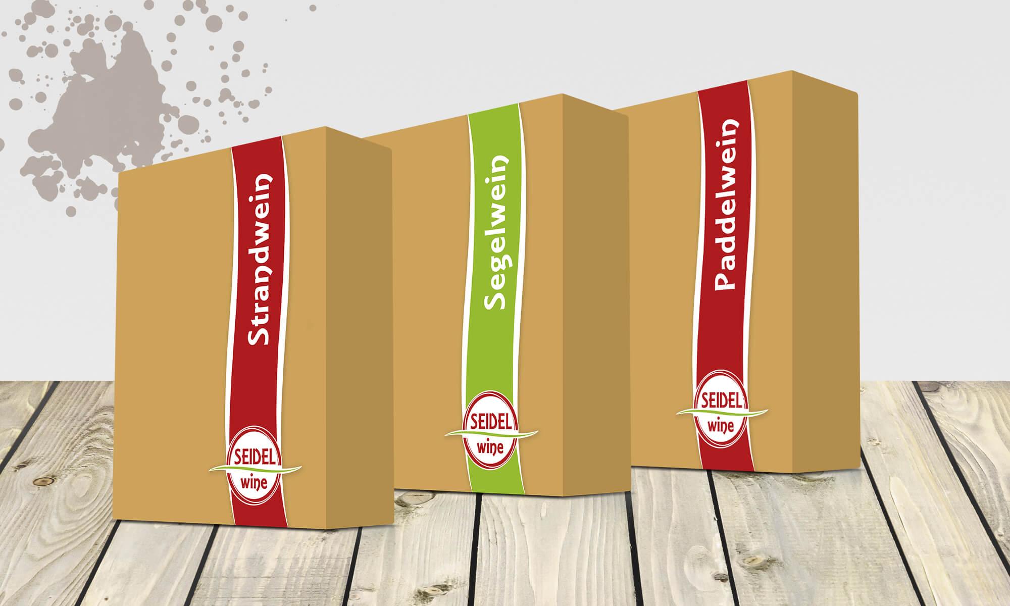 Bag-in-Box-Weinverpackungen für Seidel Wine
