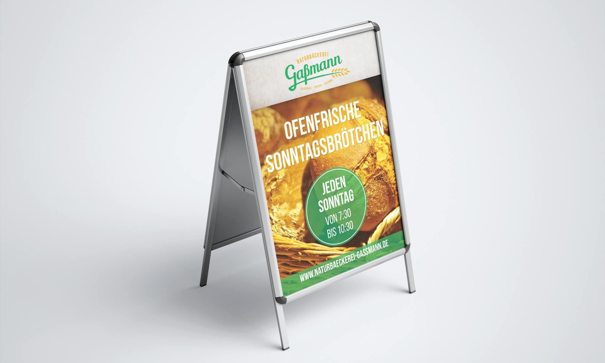 Naturbäckerei Gaßmann - Plakate für den Kundenstopper