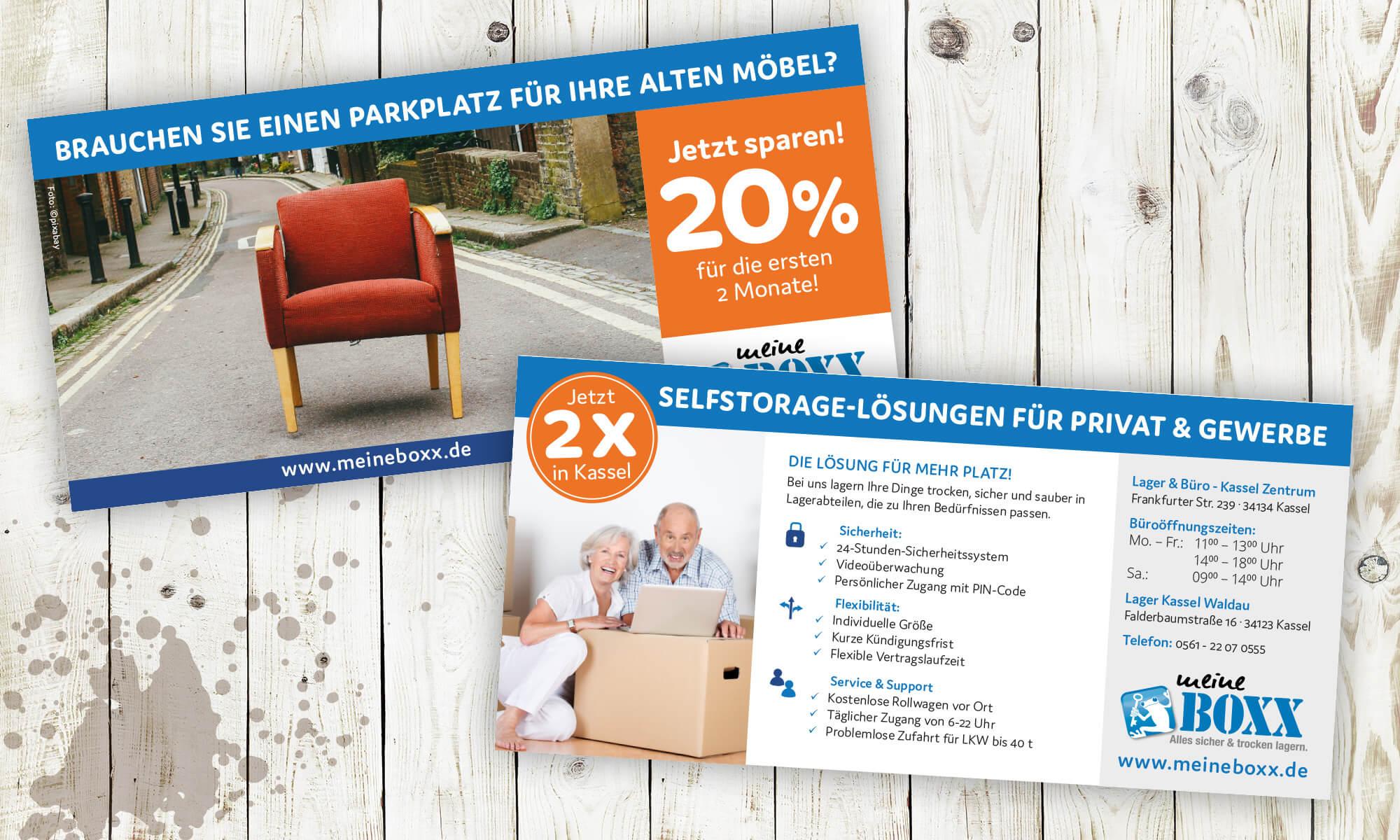 """Meine Boxx - Flyer """"20% sparen"""""""
