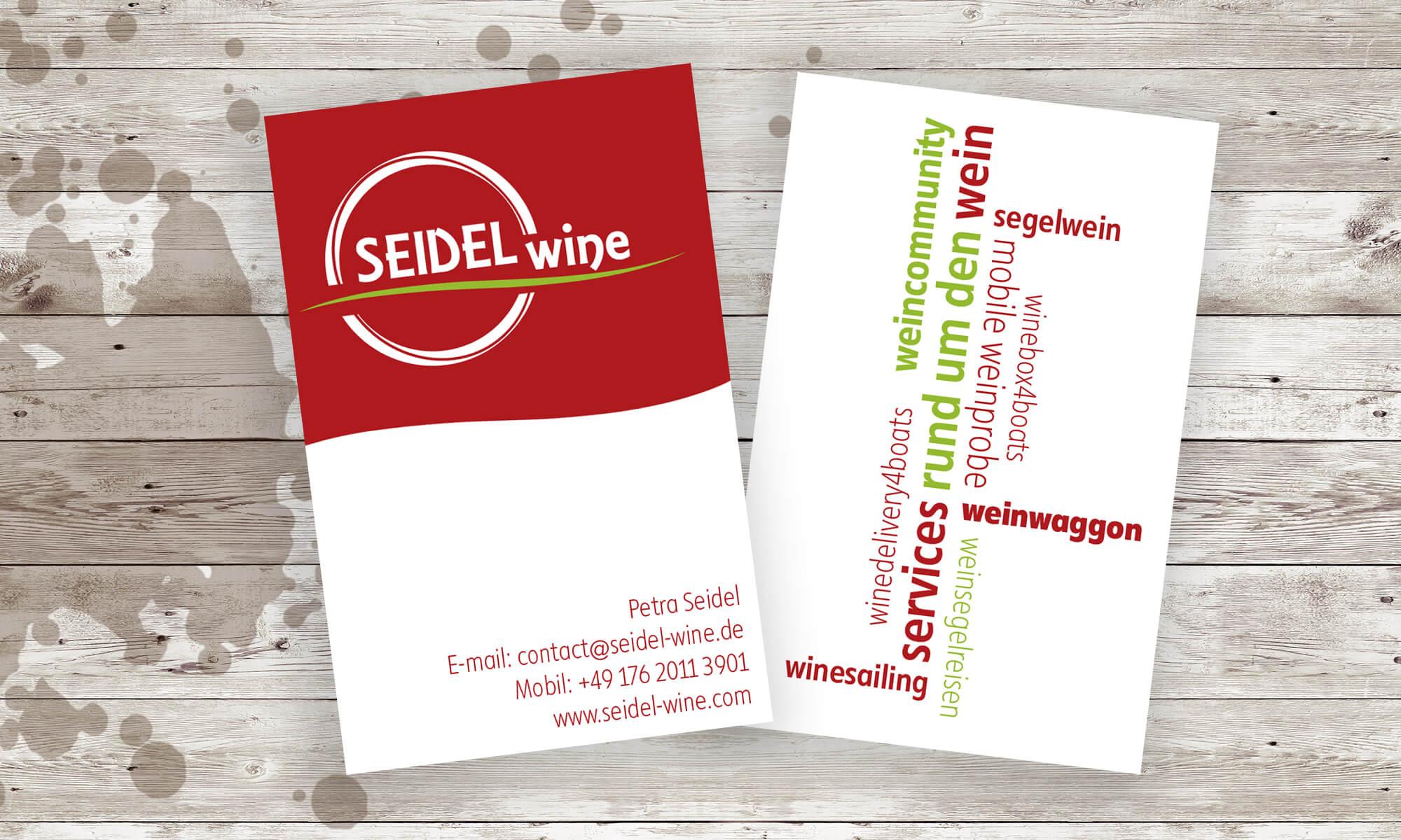 Visitenkarten für Seidel Wine