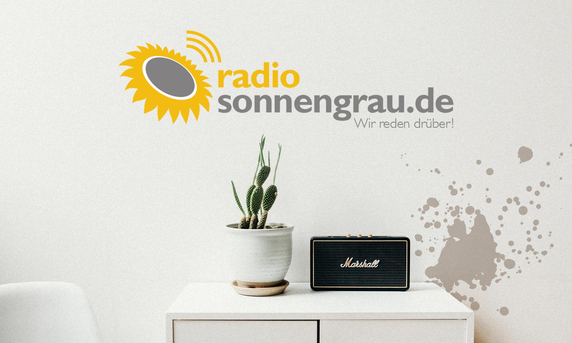 Radio sonnengrau – Logoneugestaltung